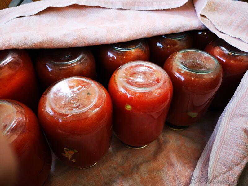 помидоры в собственном соку без стерилизации