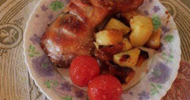 Курица в медово-горчичном соусе с картошкой в духовке — пошаговый рецепт